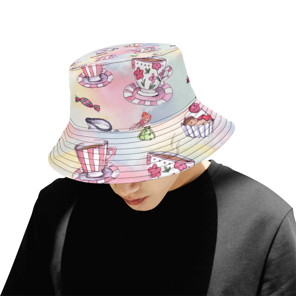 Coffee and sweeets All Over Print Bucket Hat for Men