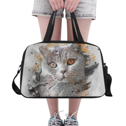 cat kitty art #cat #kitty Fitness Handbag (Model 1671)
