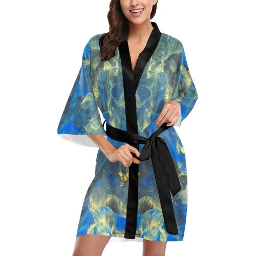 Flowers in the Sky Kimono Robe