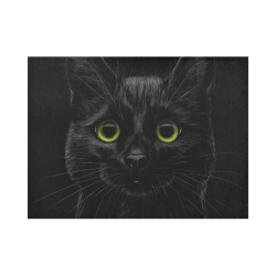 Black Cat Placemat 14'' x 19''