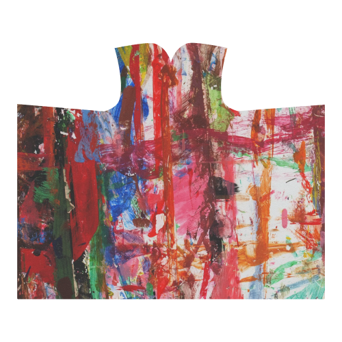 Paint on a white background Hooded Blanket 60''x50''