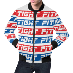 Tight Fit 511 All Over Print Bomber Jacket for Men (Model H19)