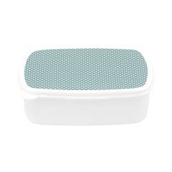 Silver blue polka dots Children's Lunch Box