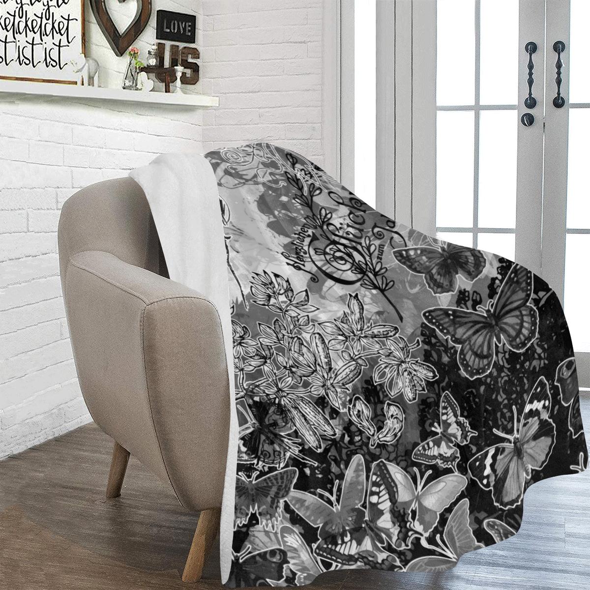 "Lady and butterflies Ultra-Soft Micro Fleece Blanket 60""x80"""