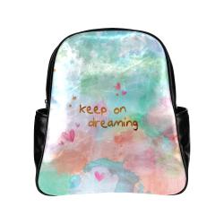 KEEP ON DREAMING Multi-Pockets Backpack (Model 1636)