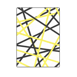 """Black and yellow stripes Blanket 58""""x80"""""""