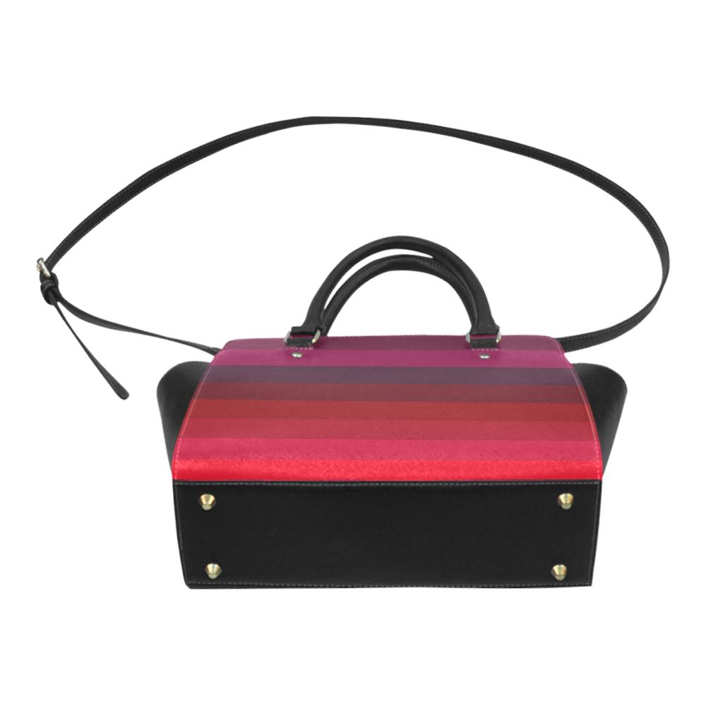 Burgundy Color Shades Classic Shoulder Handbag (Model 1653)