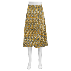 Graphic illusion Mnemosyne Women's Crepe Skirt (Model D16)