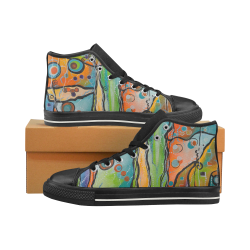 Affections High Top Canvas Shoes for Kid (Model 017)