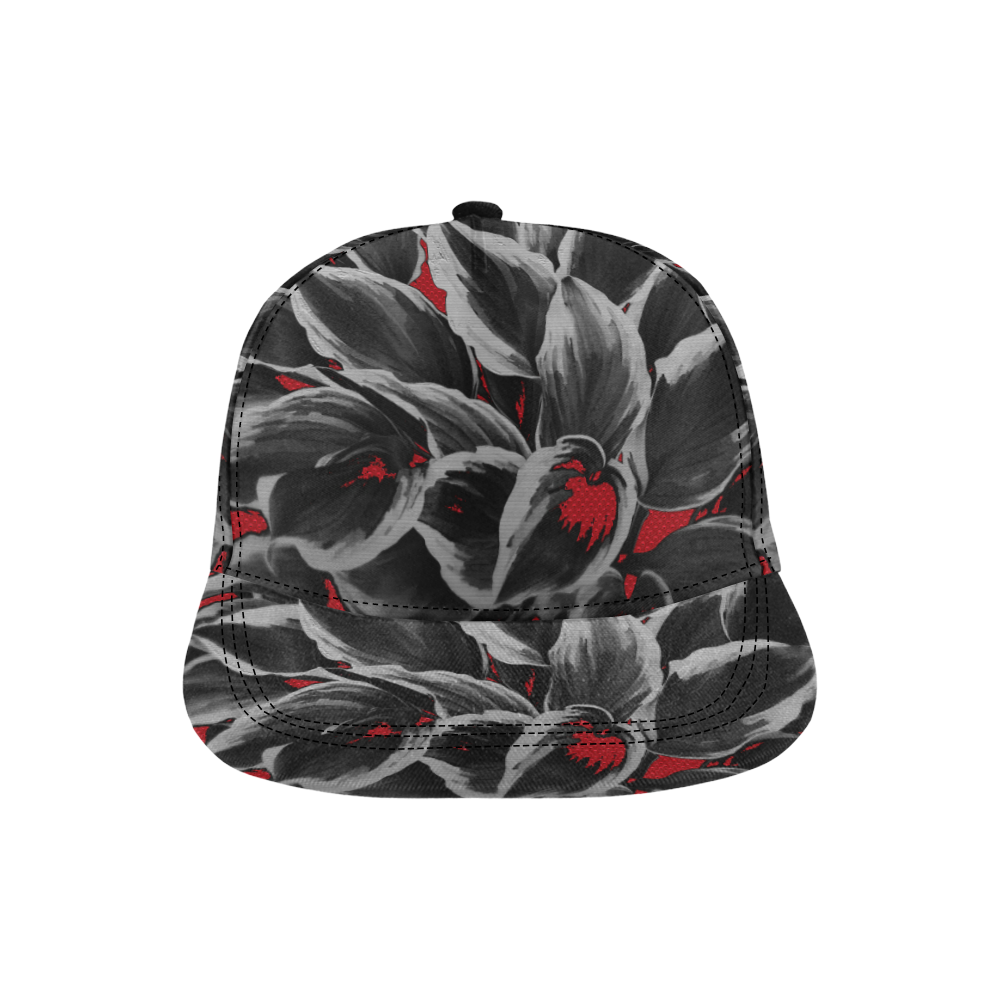 leafs_abstract TRY2 18 All Over Print Snapback Hat D