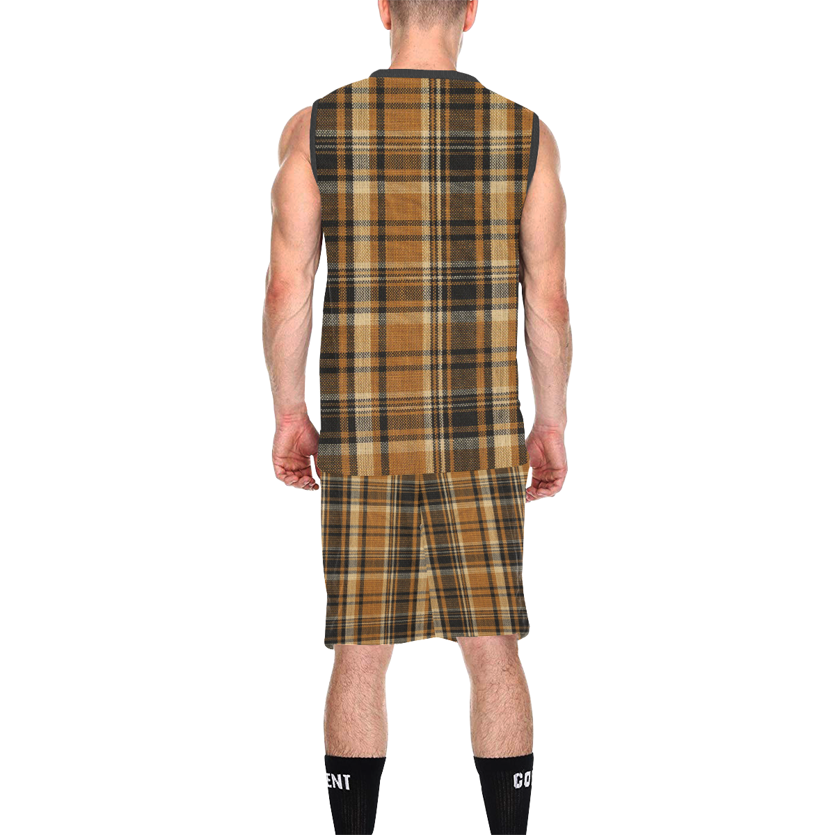 TARTAN DESIGN All Over Print Basketball Uniform