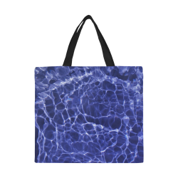Rattled Water All Over Print Canvas Tote Bag/Large (Model 1699)