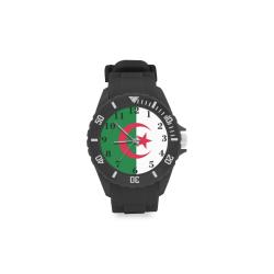 Algeria Flag Sport Rubber Strap Watch(Model 301)