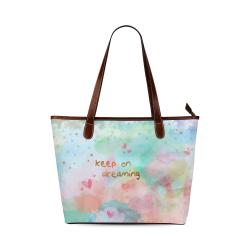 KEEP ON DREAMING Shoulder Tote Bag (Model 1646)