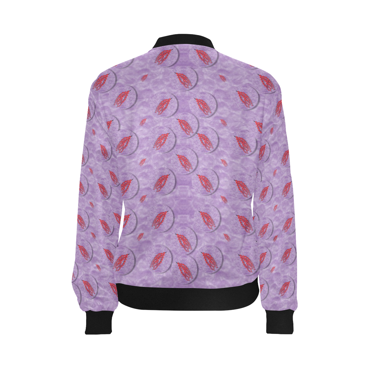 tropical flower forest of ornate colors All Over Print Bomber Jacket for Women (Model H36)