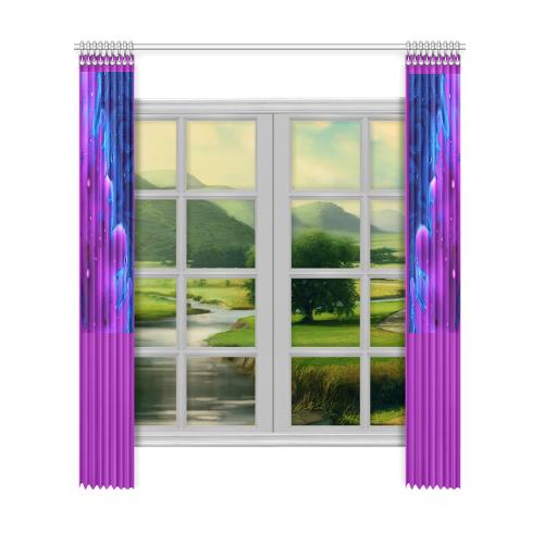 "quixotic Window Curtain 52""x120""(Two Piece)"
