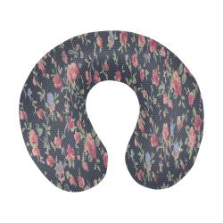 Polka Dotted Rosebuds U-Shape Travel Pillow