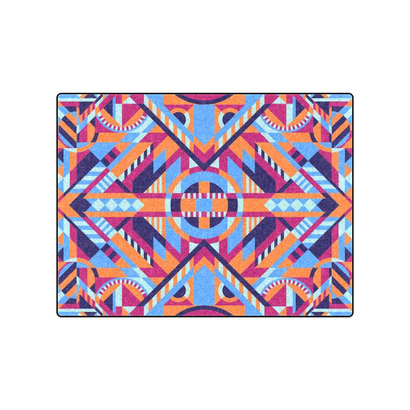 "Modern Geometric Pattern Blanket 50""x60"""