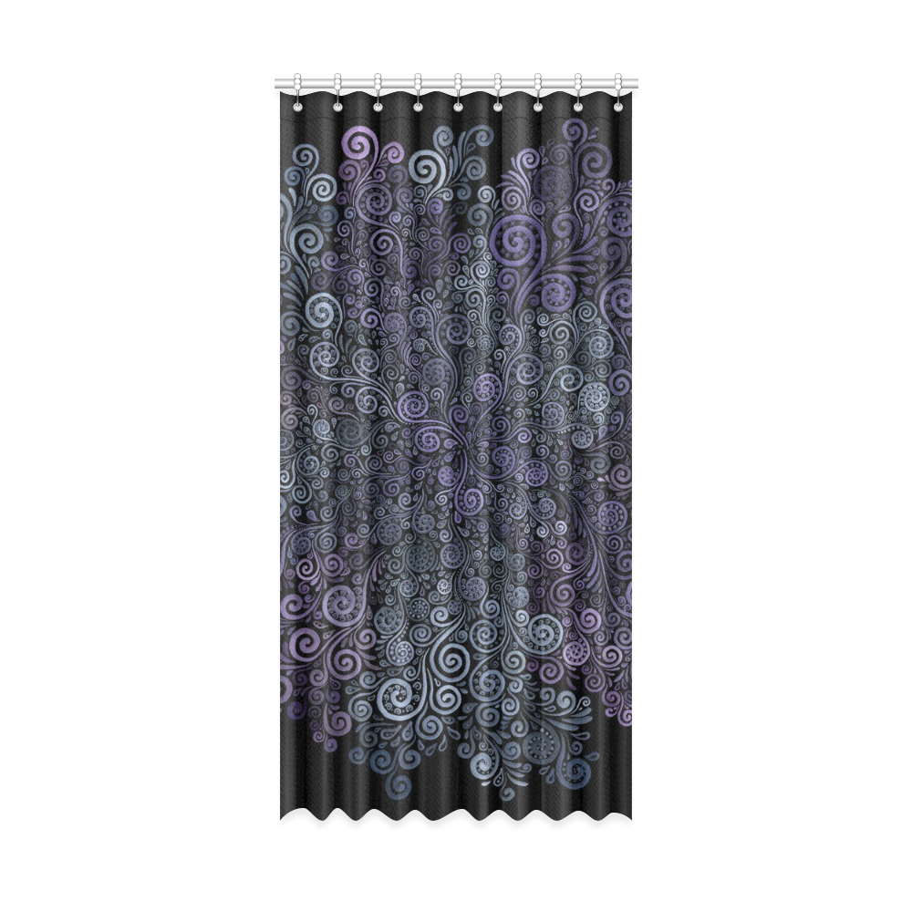 """3d Psychedelic Ultra Violet Powder Pastel Window Curtain 52"""" x 108""""(One Piece)"""