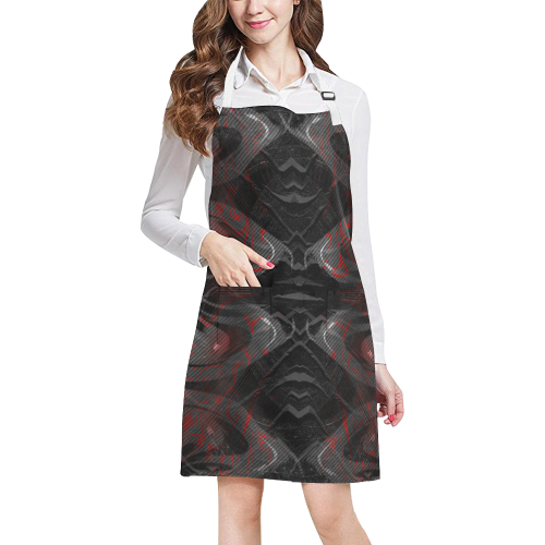 Red Dribled Voice Crew All Over Print Apron