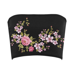 Pure Nature - Summer Of Pink Roses 1 Bandeau Top