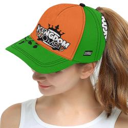 Green/Orange All Over Print Snapback Hat D