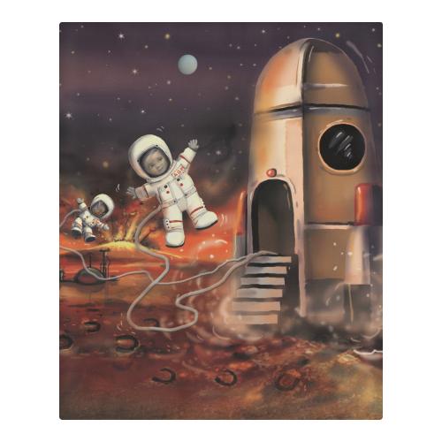 Mars Space Bed Sheet 3-Piece Bedding Set