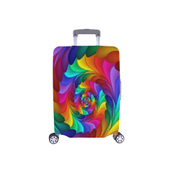 "RAINBOW CANDY SWIRL Luggage Cover/Small 18""-21"""