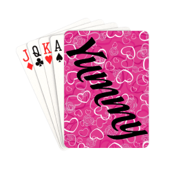 "Yummy Heart pink Playing Cards 2.5""x3.5"""
