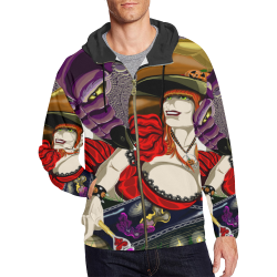 Trippy Witch All Over Print Hoodie All Over Print Full Zip Hoodie for Men (Model H14)