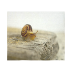 """Solitary Snail Cotton Linen Wall Tapestry 60""""x 51"""""""
