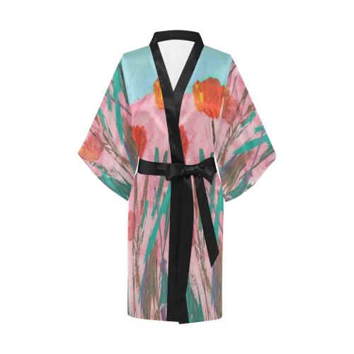 Poppy Mirth Kimono Robe