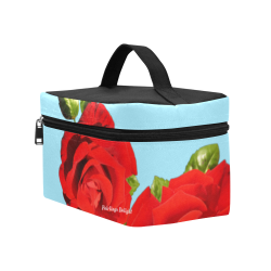 Fairlings Delight's Floral Luxury Collection- Red Rose Cosmetic Bag/Large 53086a14 Cosmetic Bag/Large (Model 1658)