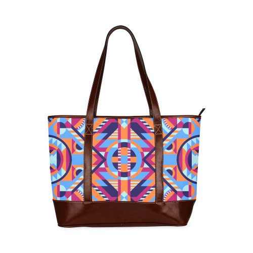 Modern Geometric Pattern Tote Handbag (Model 1642)