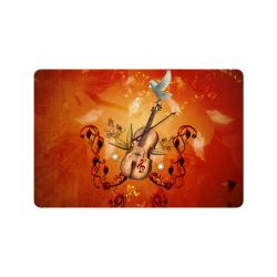 """Music, violin with dove Doormat 24"""" x 16"""""""
