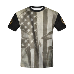 OUTLAW PATRIOT - AMERICAN PUNISHER All Over Print T-Shirt for Men/Large Size (USA Size) Model T40)