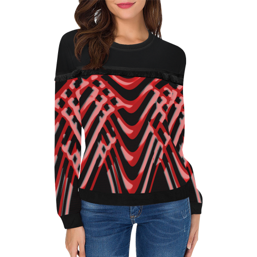 abstract_5500_2019_RBW_141h Women's Fringe Detail Sweatshirt (Model H28)