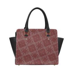 B Monogram Diamante by BJORLIE (Black/Sangria) Classic Shoulder Handbag (Model 1653)