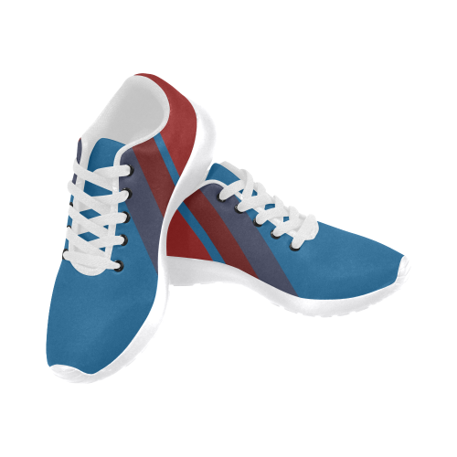 Classic Blue Layers on Red Men's Running Shoes (Model 020)
