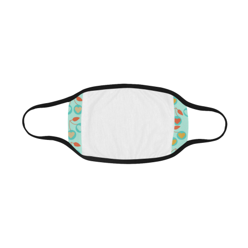 light teal heart cherries Mouth Mask