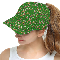 clown ghost pattern green All Over Print Snapback Hat D