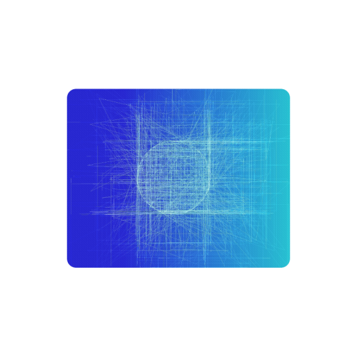 Frosty Blue Retro Glitch Rectangle Mousepad