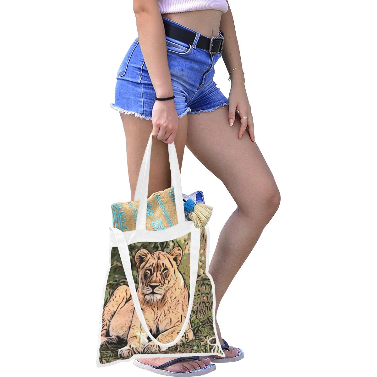 Lioness Of Love Canvas Tote Bag/Medium (Model 1701)