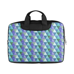 "Triangle Pattern - Blue Violet Teal Green Macbook Air 11""(Twin sides)"