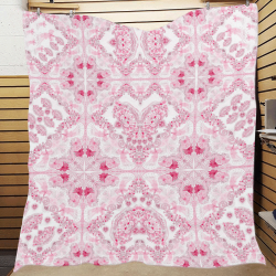 "sweet nature-fuxia Quilt 70""x80"""