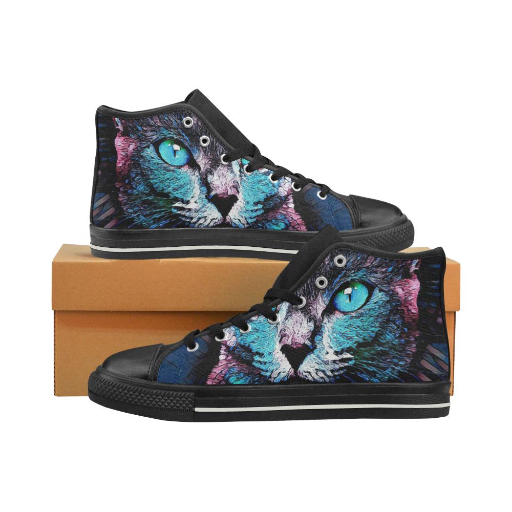CAT MULTICOLOR CRASSCO WOMEN Women's Classic High Top Canvas Shoes (Model 017)