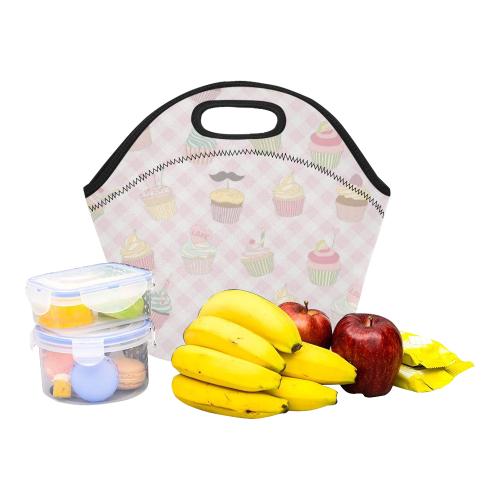 Cupcakes Neoprene Lunch Bag/Small (Model 1669)