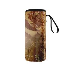 Fantasy birds Neoprene Water Bottle Pouch/Medium