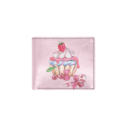cupcake Bifold Wallet with Coin Pocket (Model 1706)