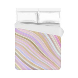 "Mild Wavy Lines 05 Duvet Cover 86""x70"" ( All-over-print)"